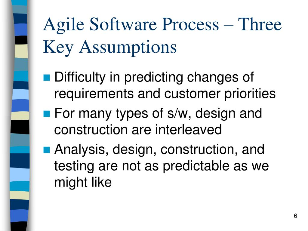 Agile Software Process – Three Key Assumptions