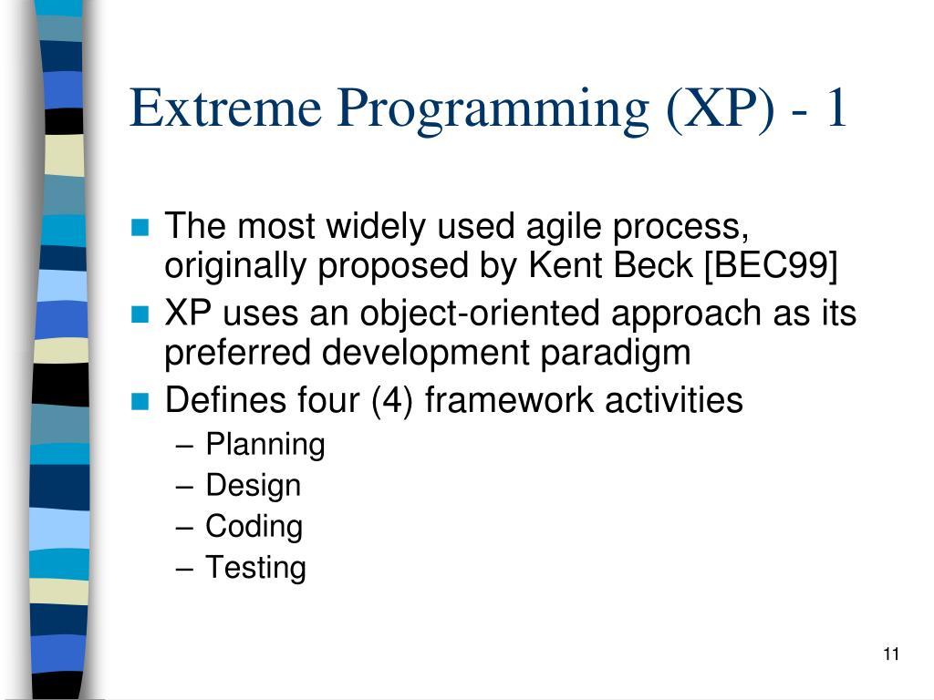 Extreme Programming (XP) - 1