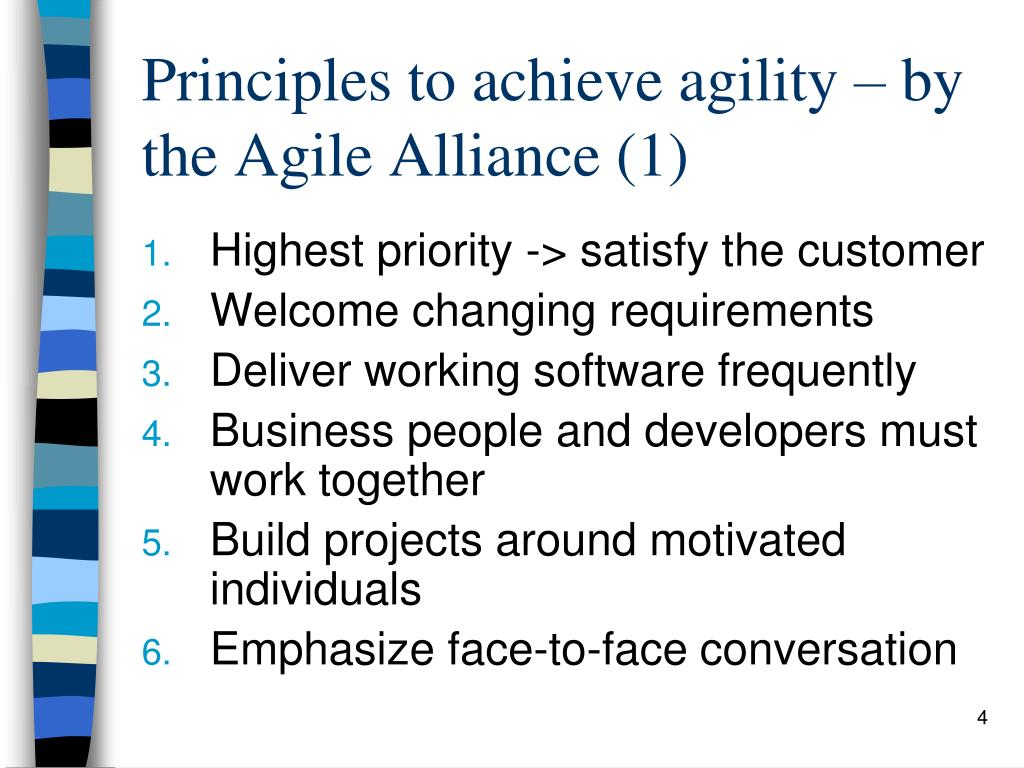 Principles to achieve agility – by the Agile Alliance (1)