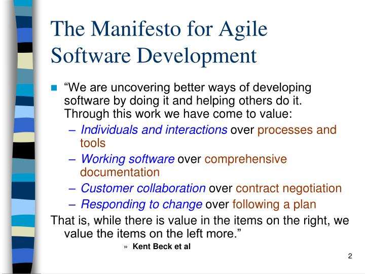 The manifesto for agile software development l.jpg