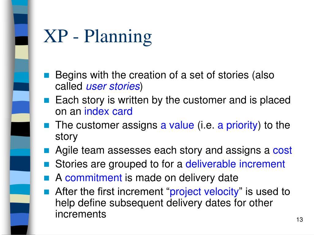 XP - Planning