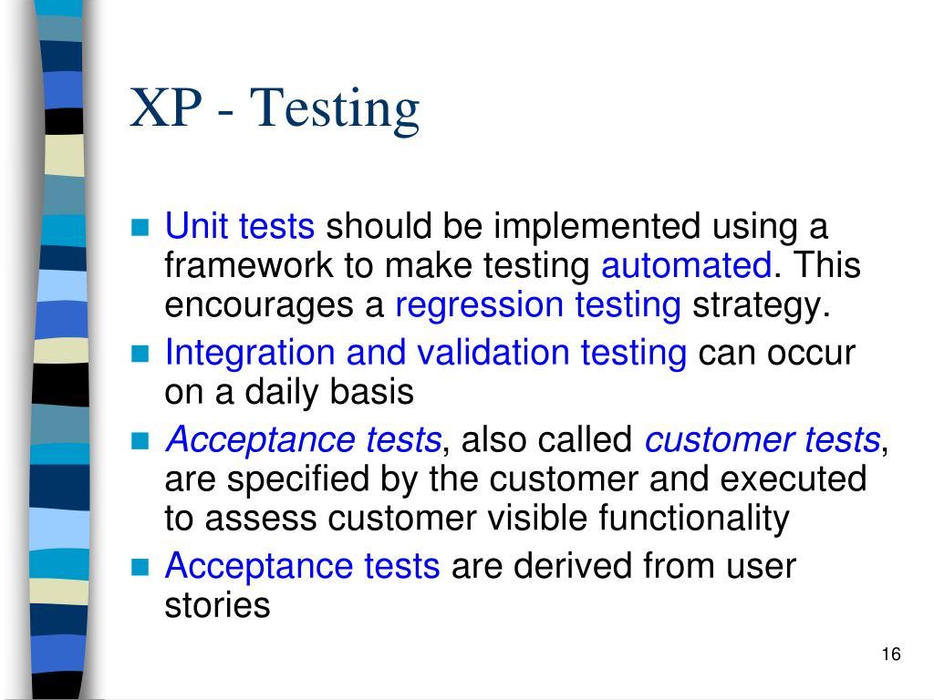 XP - Testing