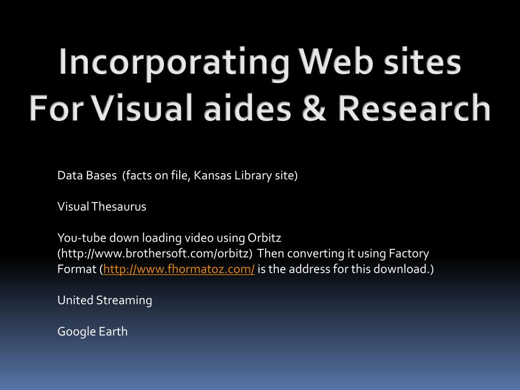Incorporating Web sites