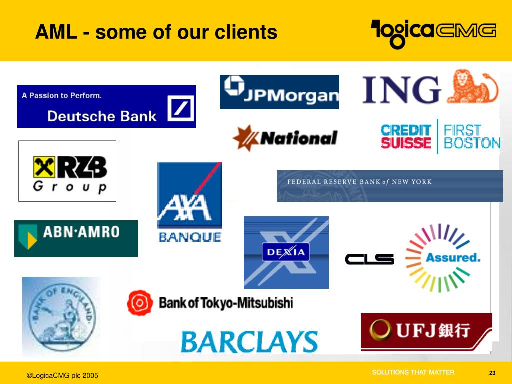 AML - some of our clients