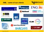 aml some of our clients