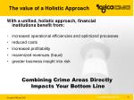 the value of a holistic approach