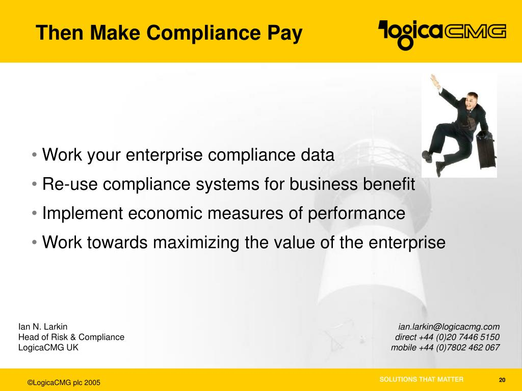 Then Make Compliance Pay