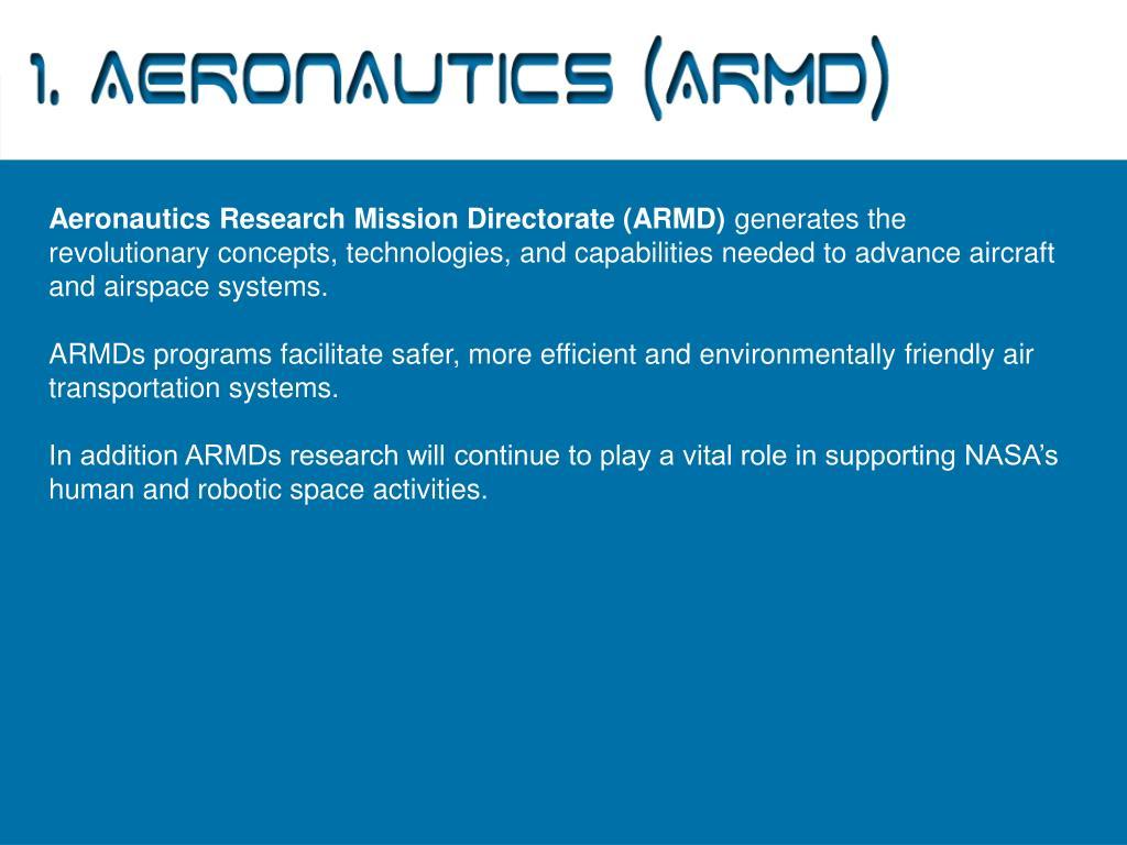 1. Aeronautics (ARMD)
