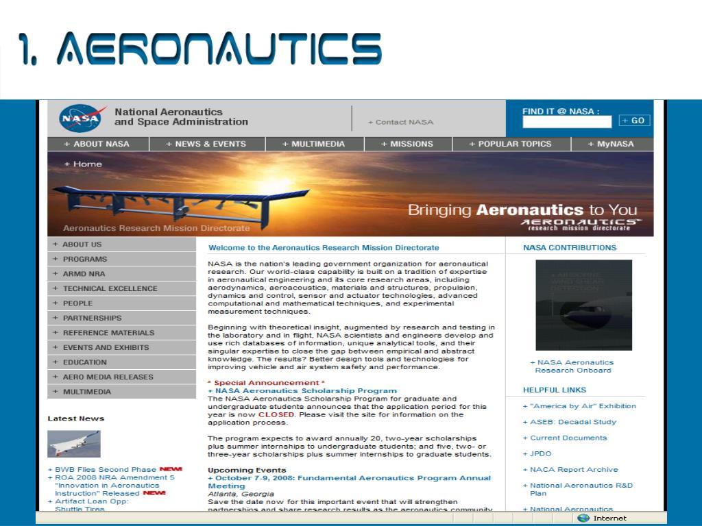 1. Aeronautics