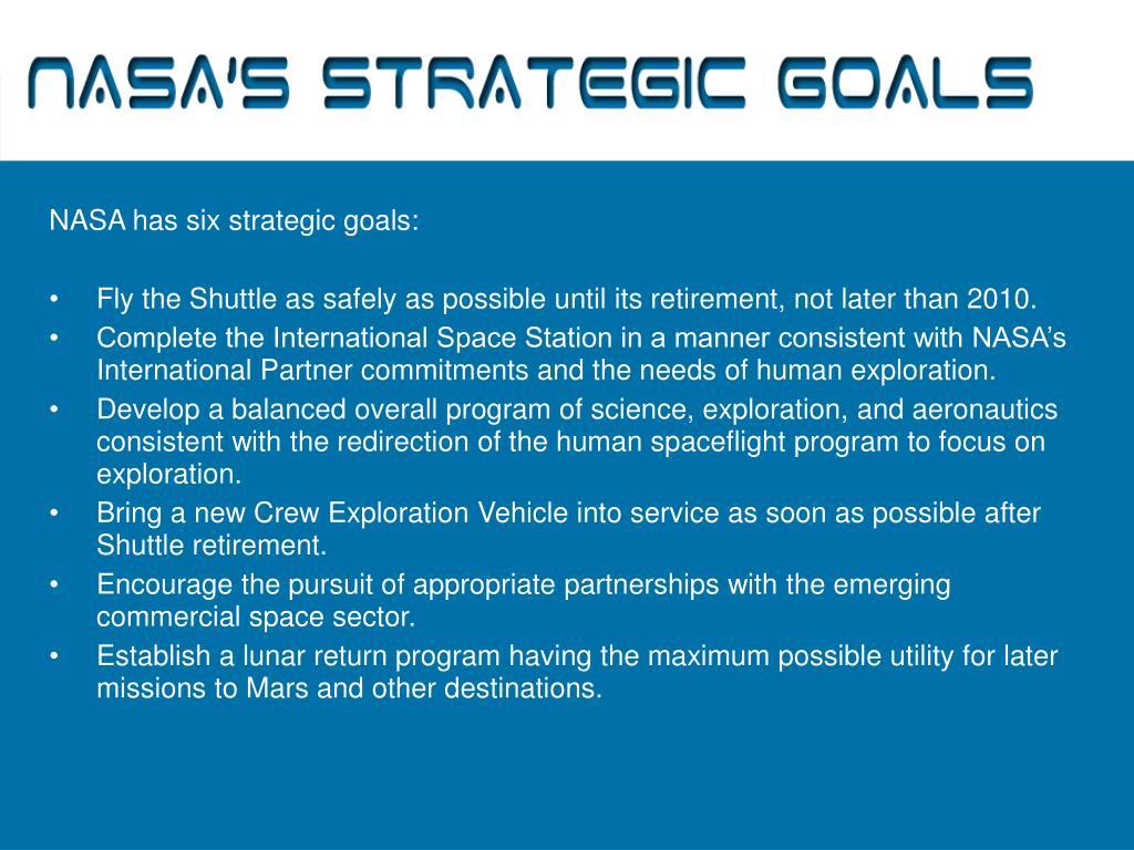 NASA's Strategic Goals