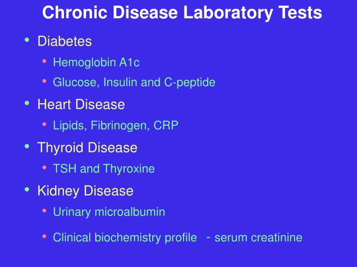 Chronic Disease Laboratory Tests