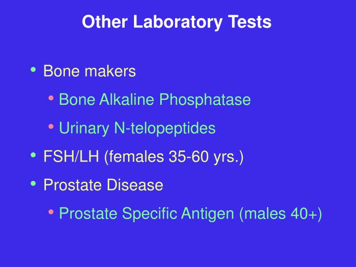 Other Laboratory Tests