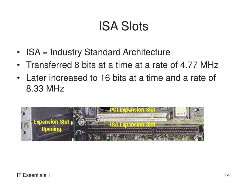 ISA Slots