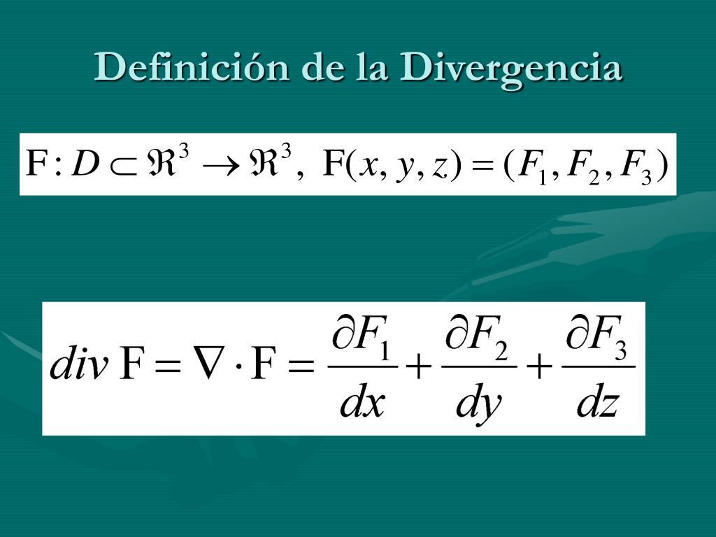 Definición de la Divergencia