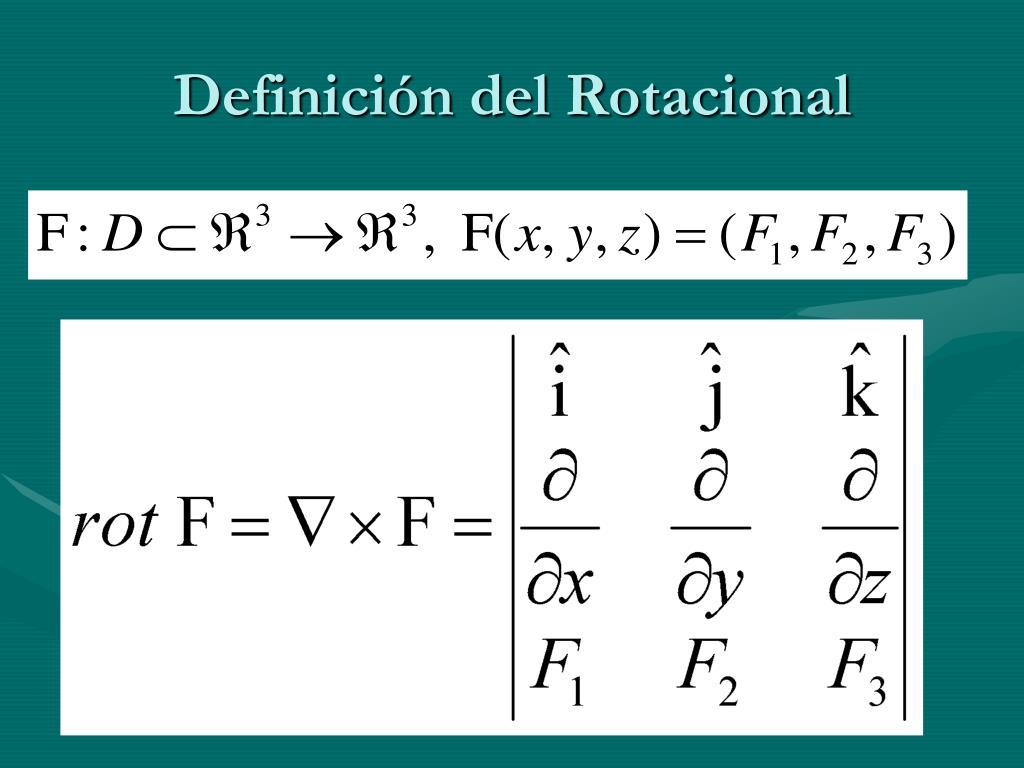 Definición del Rotacional