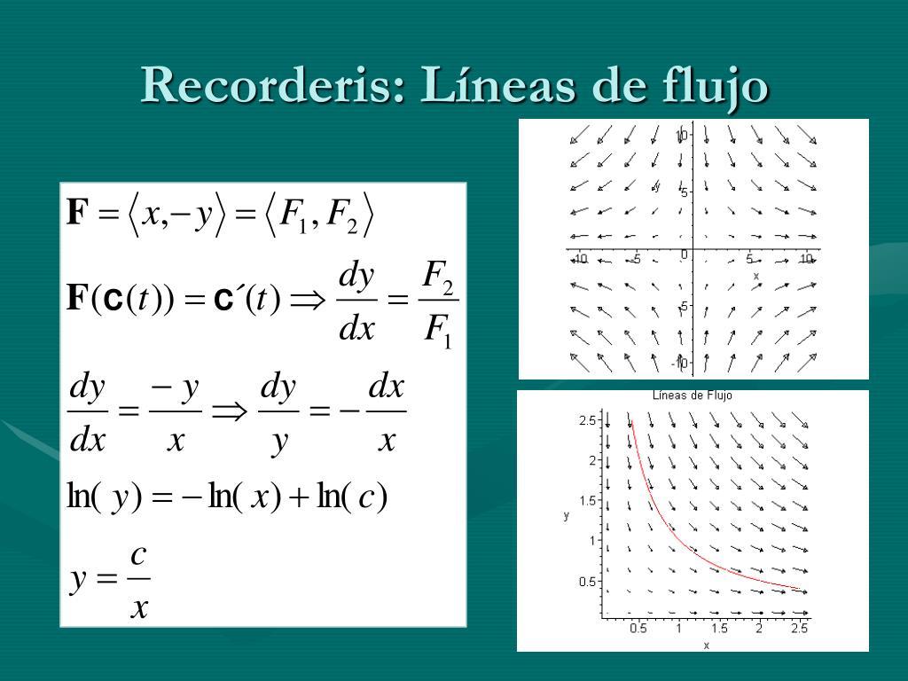 Recorderis: Líneas de flujo