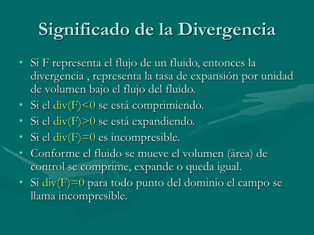 Significado de la Divergencia