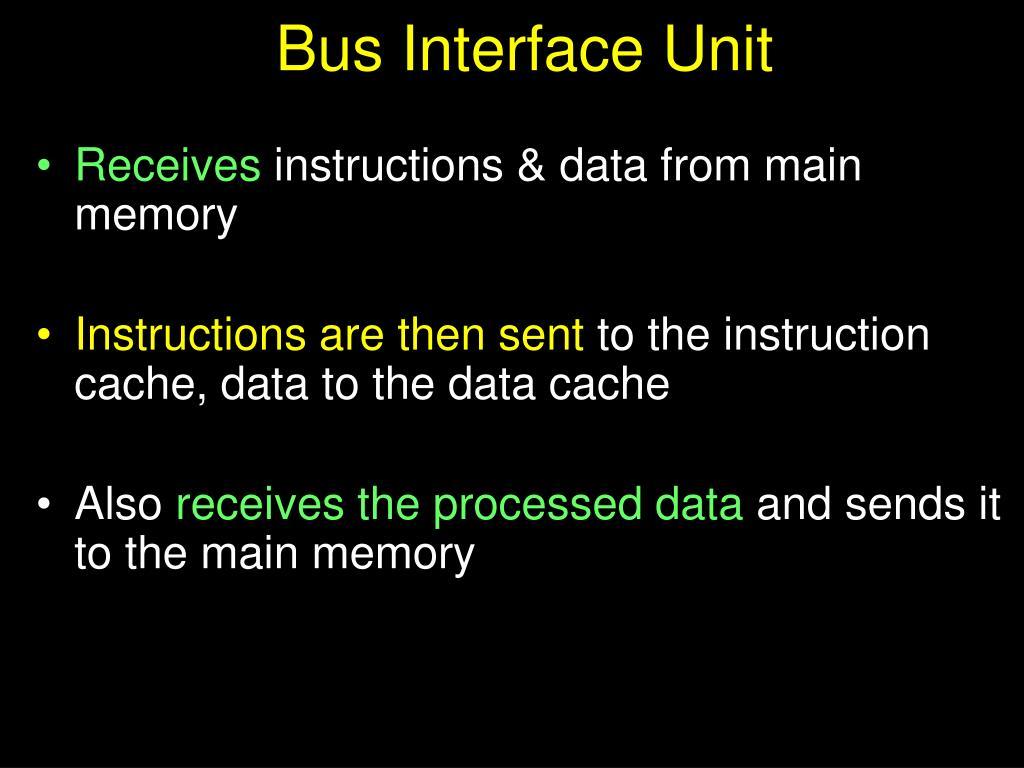 Bus Interface Unit