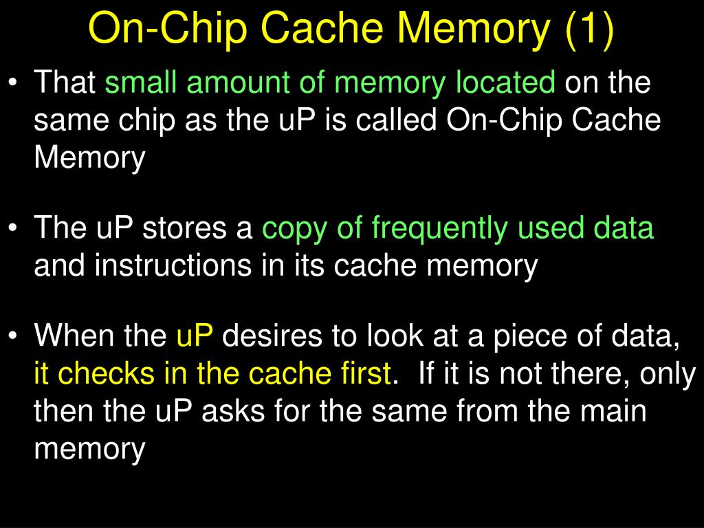 On-Chip Cache Memory (1)