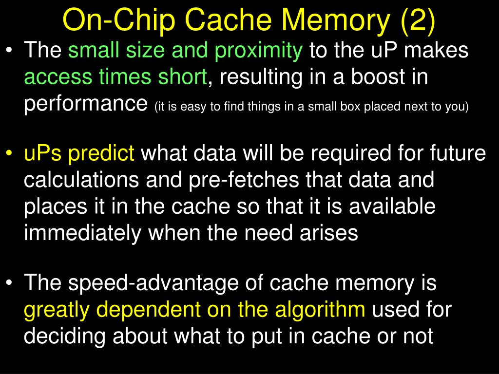 On-Chip Cache Memory (2)