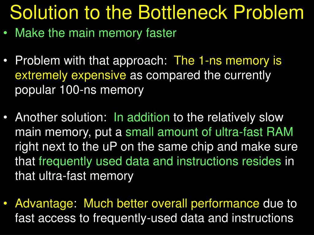 Solution to the Bottleneck Problem