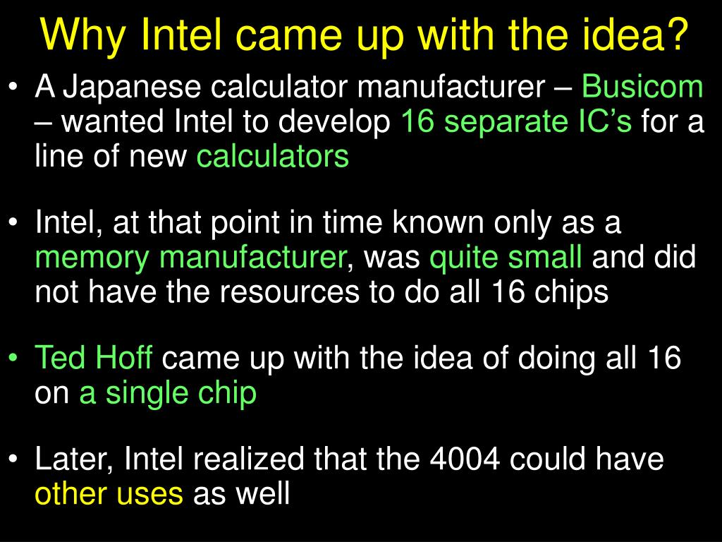 Why Intel came up with the idea?