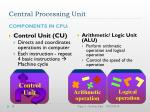 central processing unit10