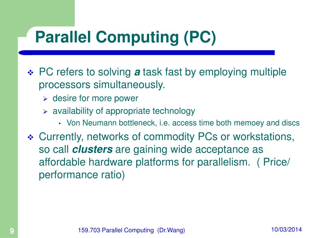 Parallel Computing (PC)