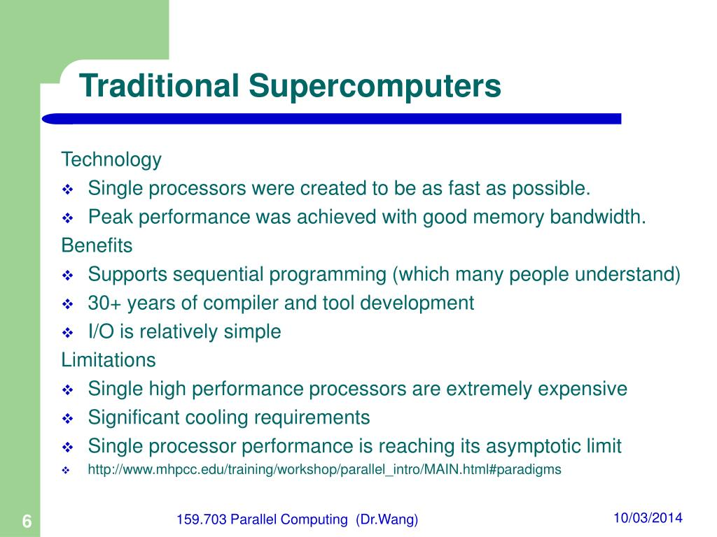 Traditional Supercomputers