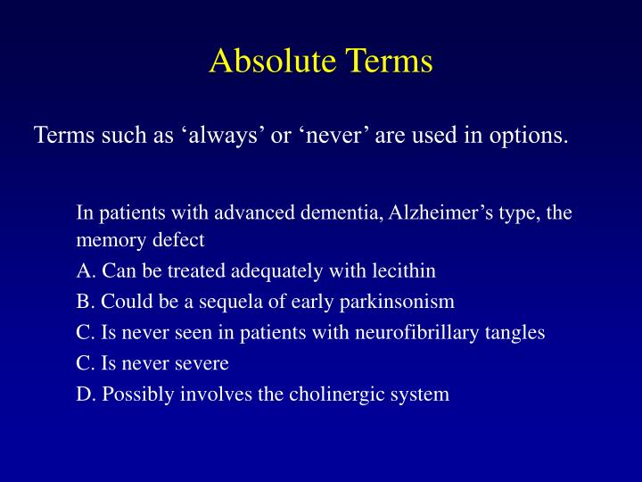 Absolute Terms