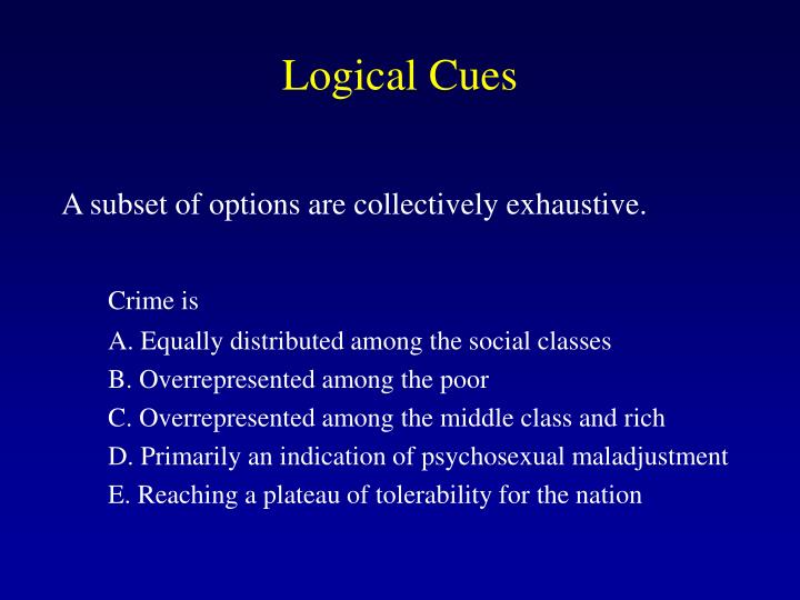 Logical Cues