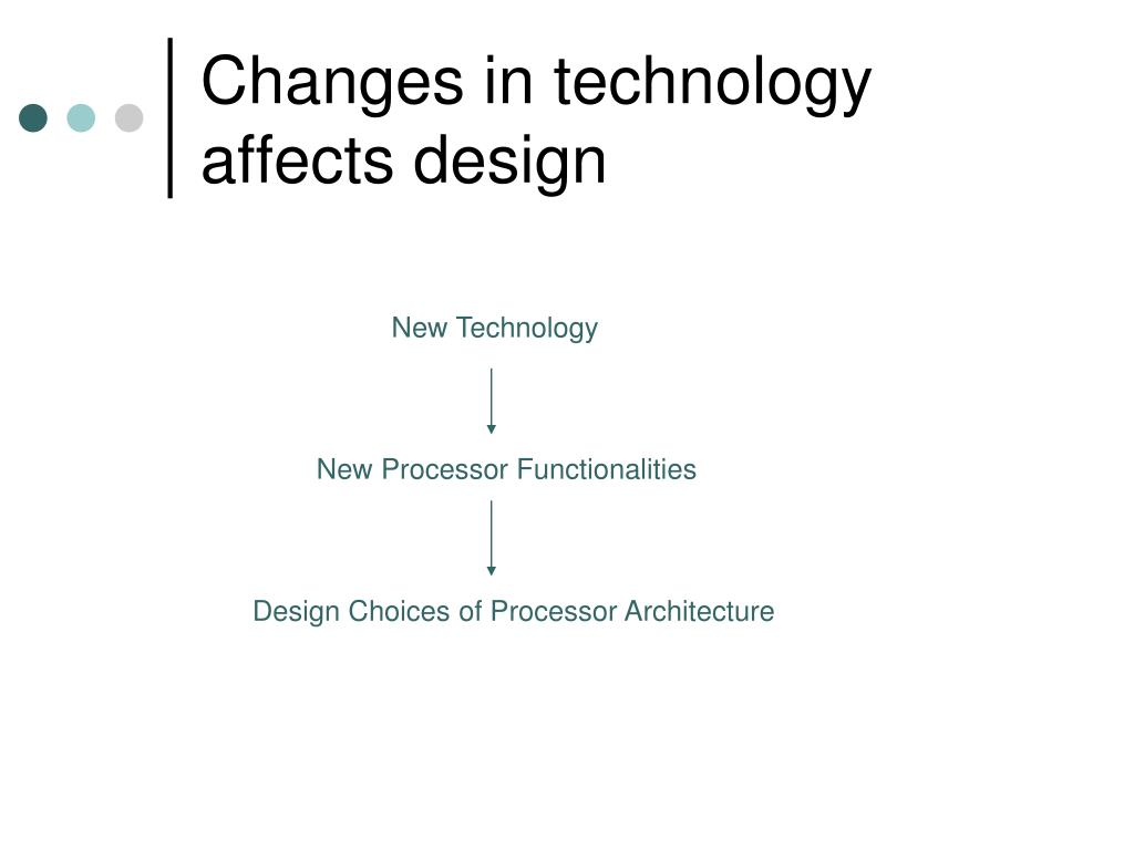 Changes in technology affects design
