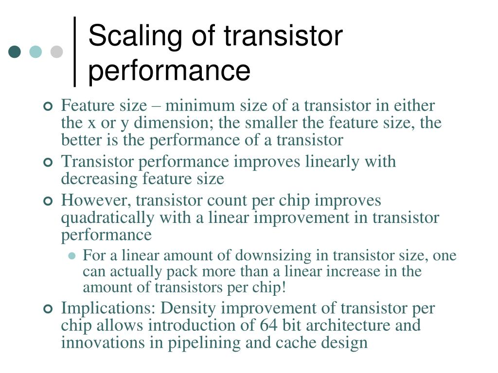 Scaling of transistor performance