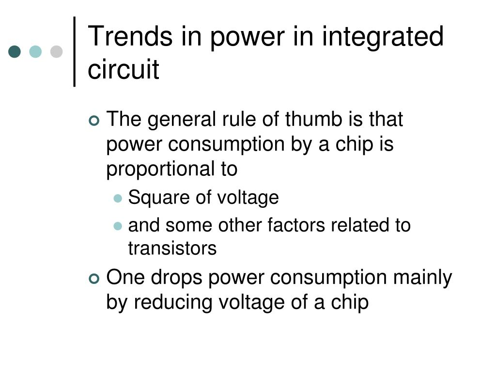 Trends in power in integrated circuit