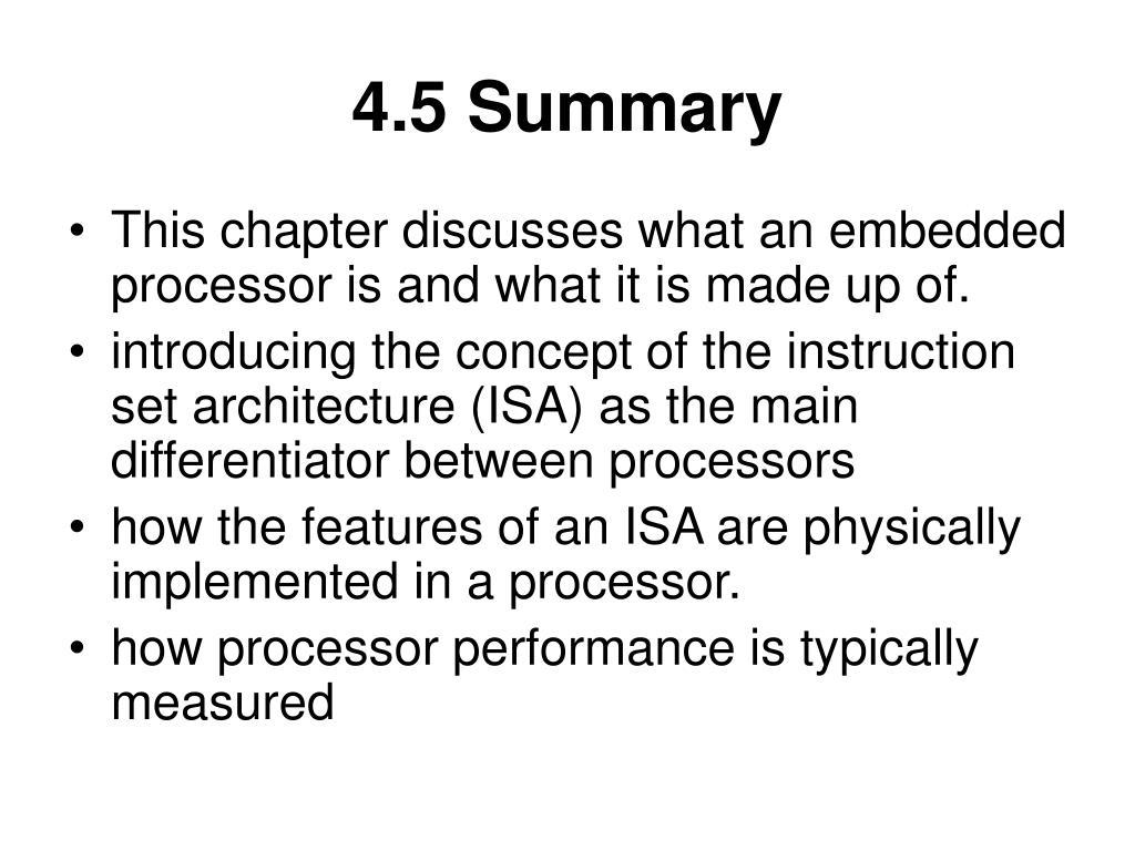 4.5 Summary