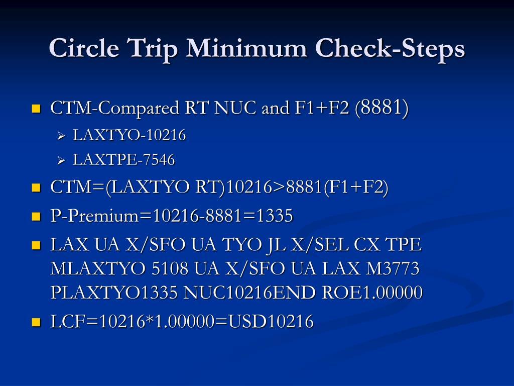 Circle Trip Minimum Check-Steps