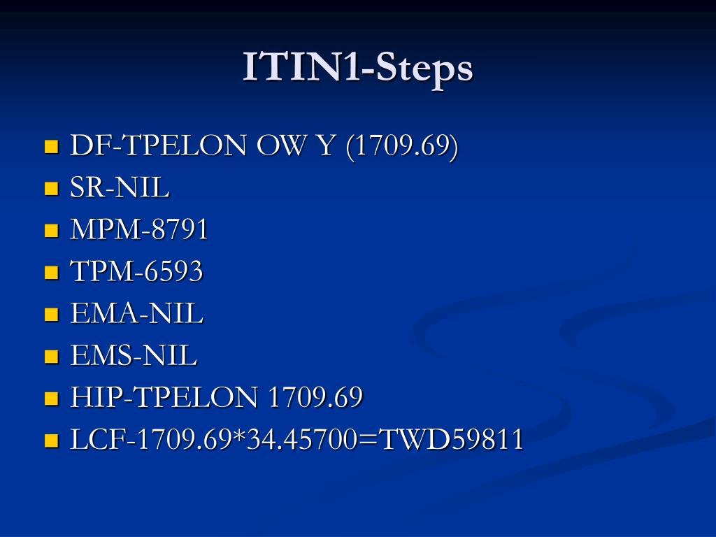 ITIN1-Steps