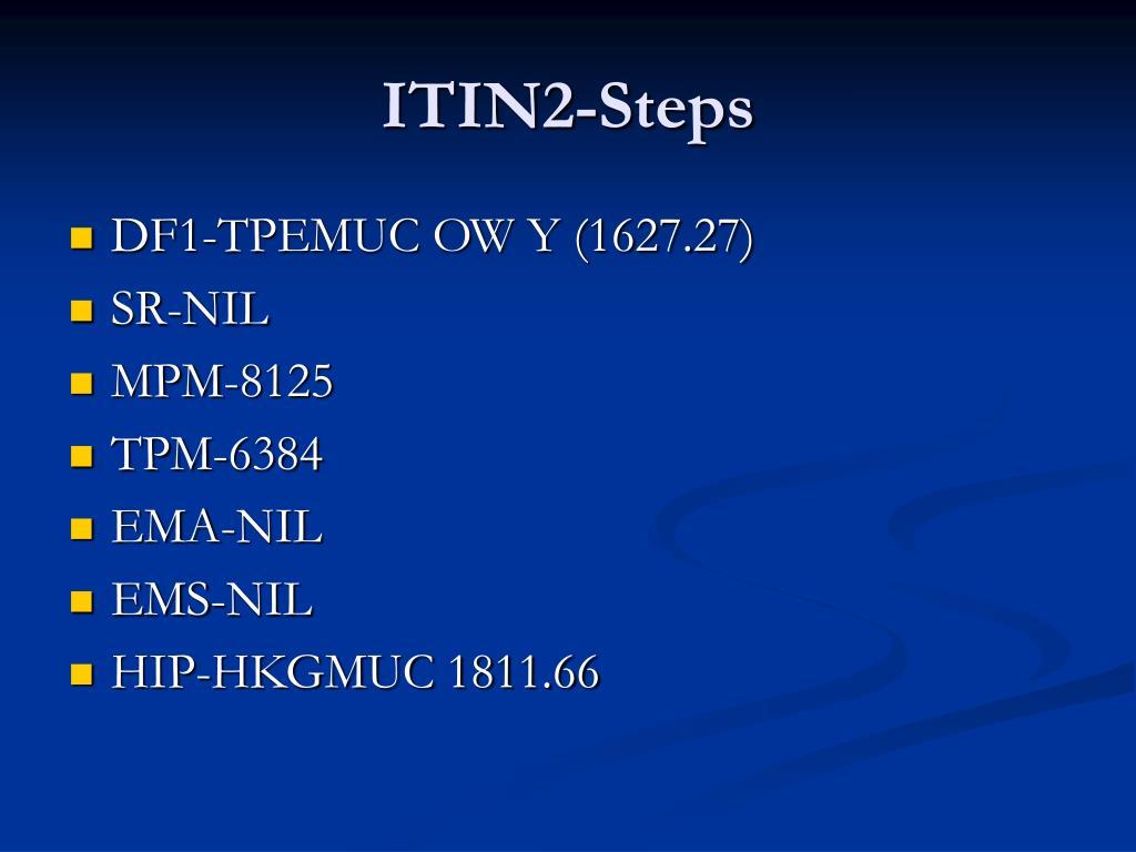 ITIN2-Steps