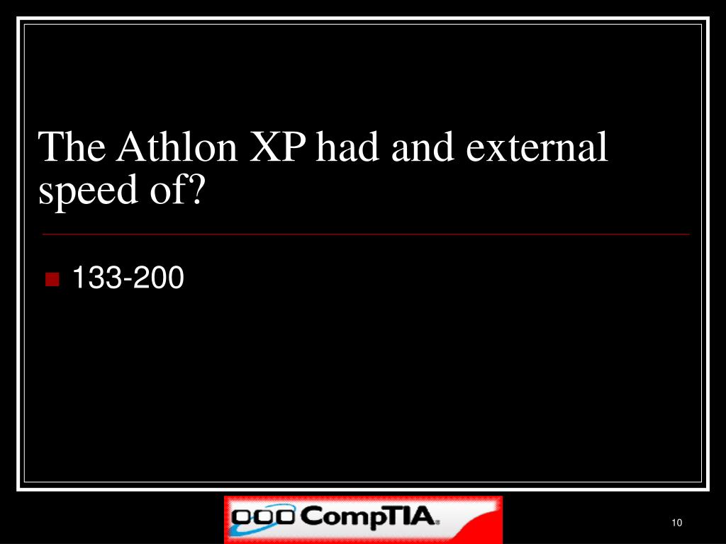 The Athlon XP had and external speed of?