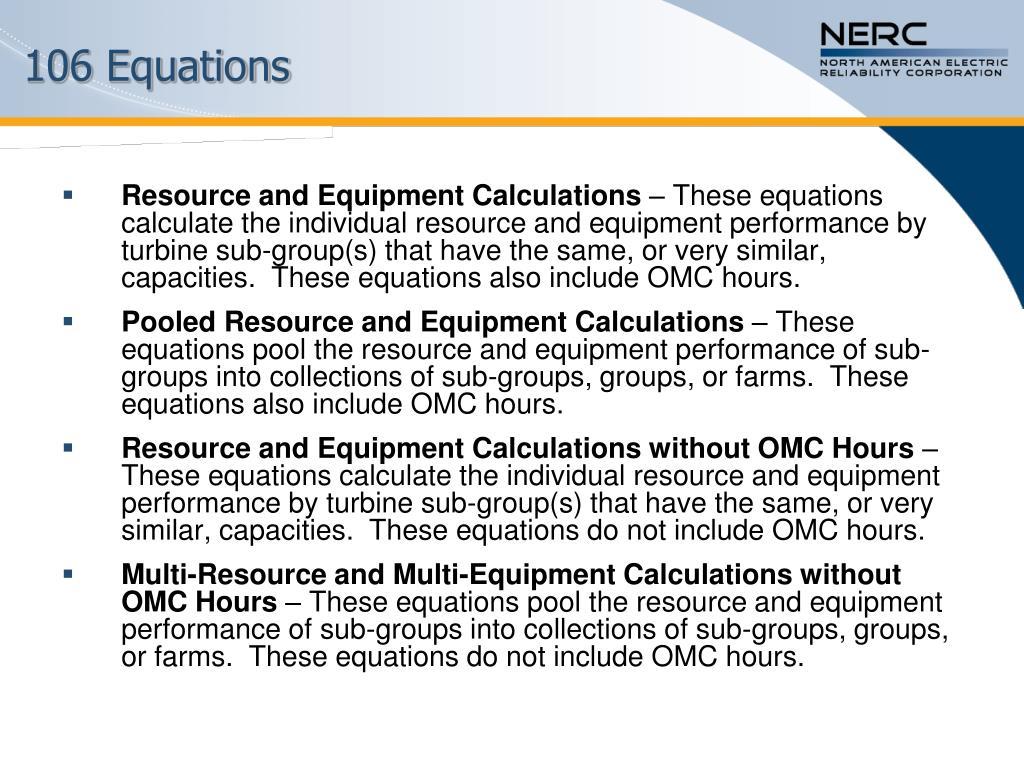 106 Equations