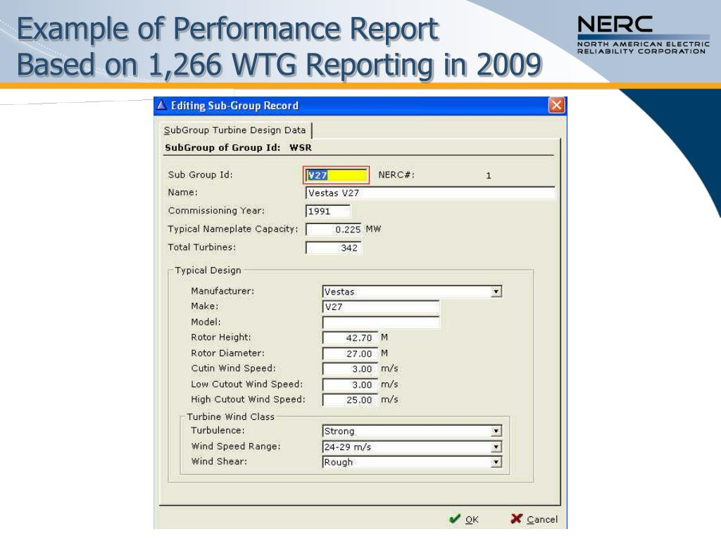 Example of Performance Report