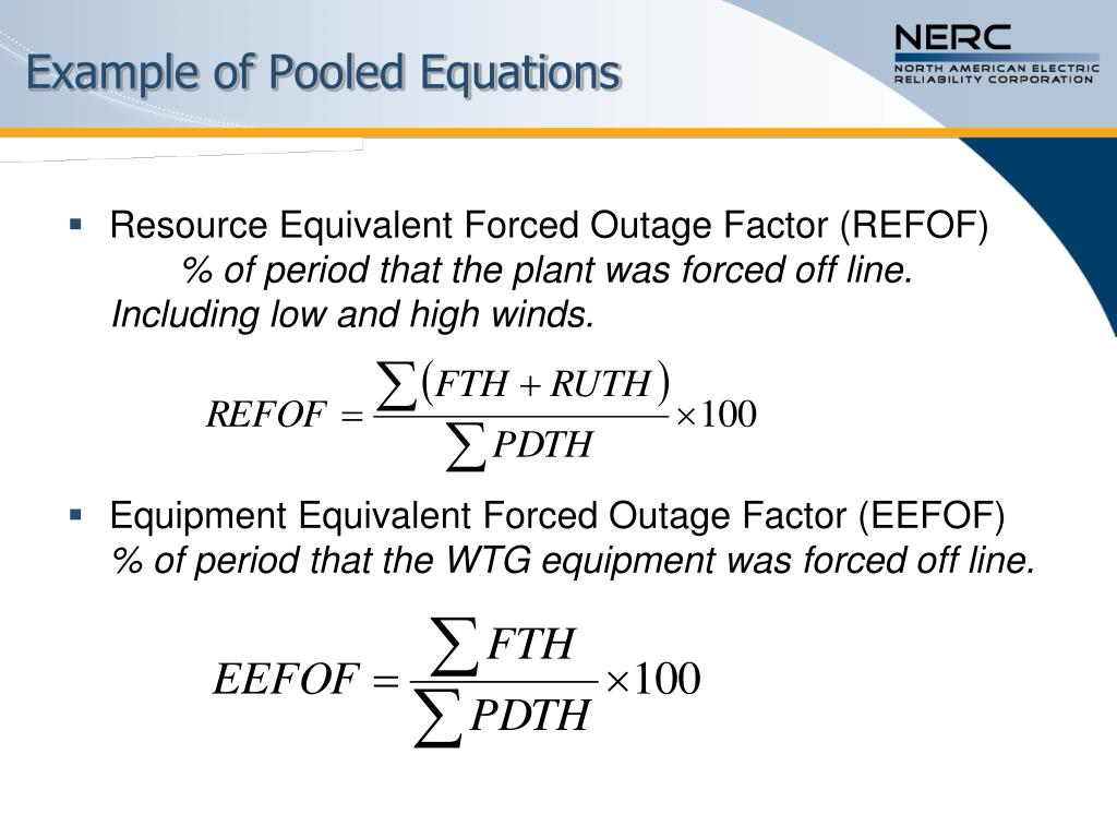 Example of Pooled Equations