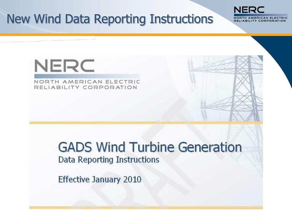 New Wind Data Reporting Instructions