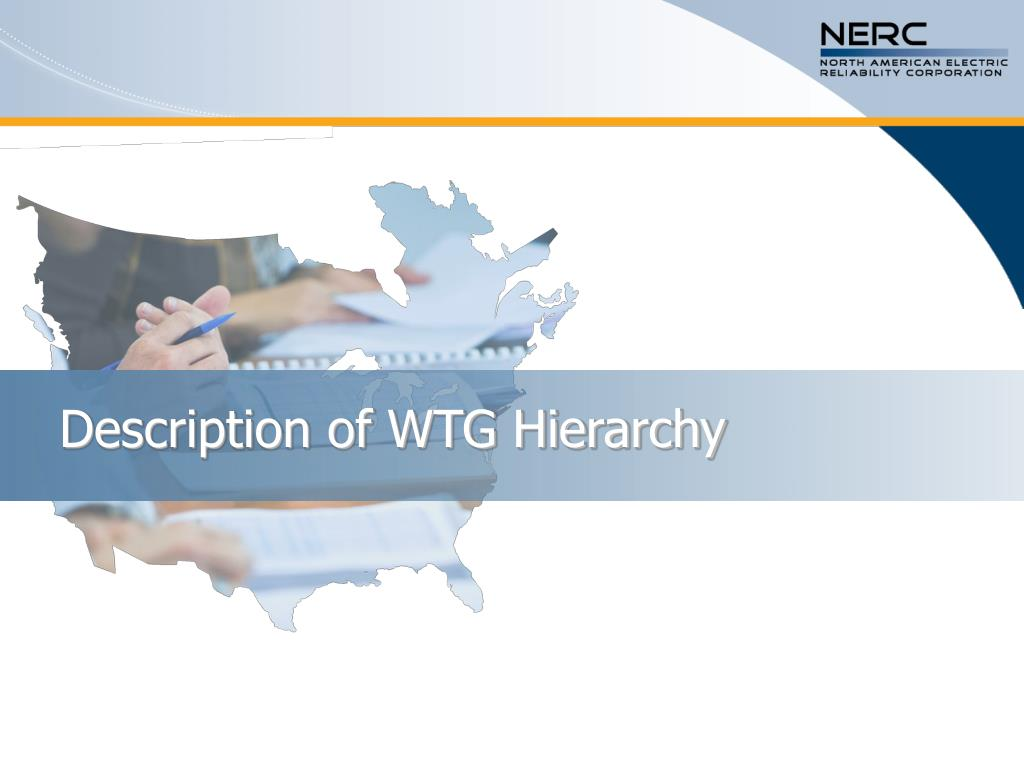 Description of WTG Hierarchy