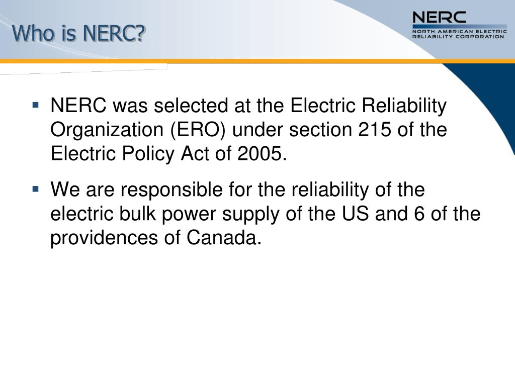 Who is NERC?
