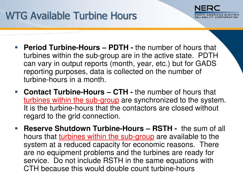 WTG Available Turbine Hours