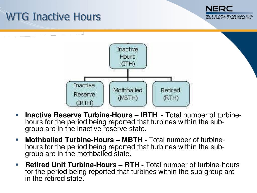 WTG Inactive Hours