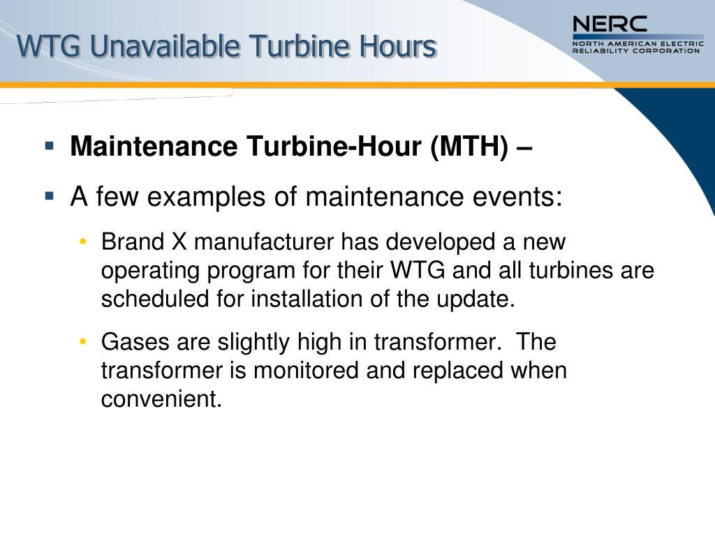 WTG Unavailable Turbine Hours