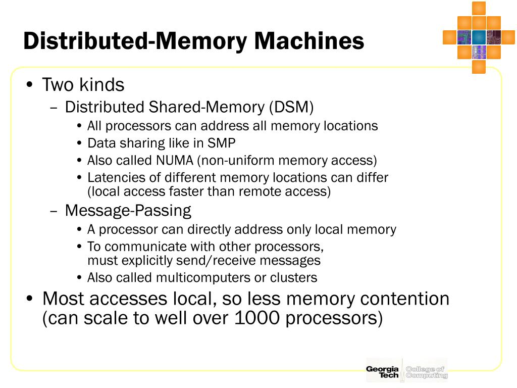 Distributed-Memory Machines