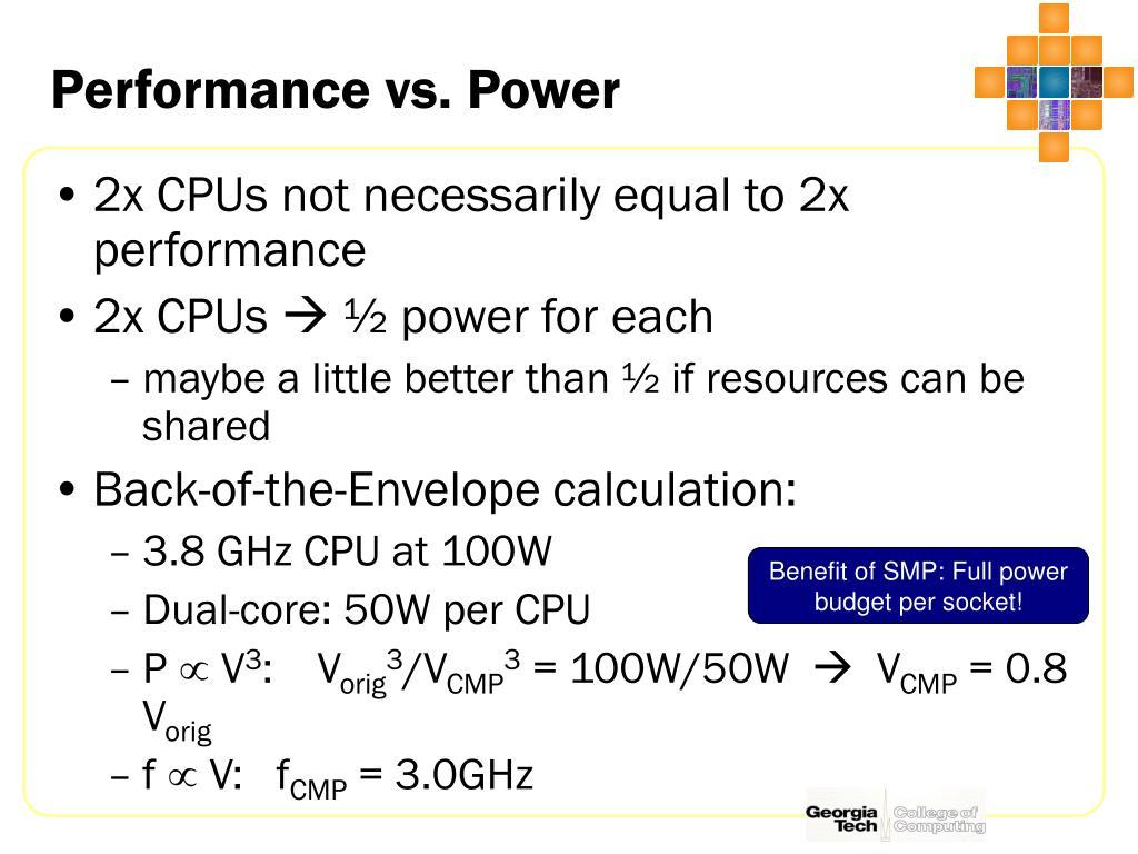 Performance vs. Power